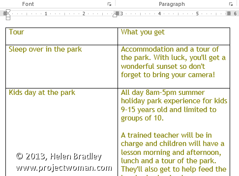 Understand and use Columns in Microsoft Word
