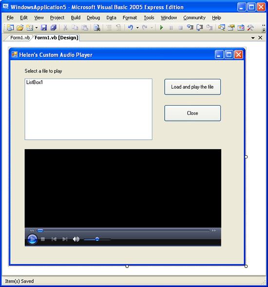 Visual Basic Music Player