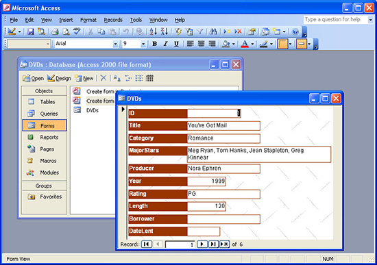 catalog a dvd collection with access