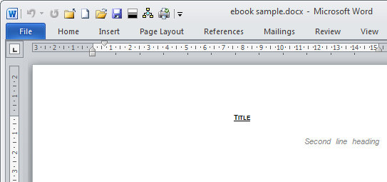 Create An E Book Template In Microsoft Word