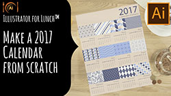 Illustrator for Lunch Make a 2017 Calendar from Scratch