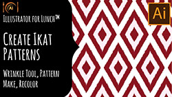 Illustrator for Lunch Create an Ikat Inspired Pattern
