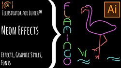 Illustrator for lunch neon effect