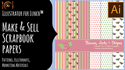 Illustrator for Lunch Make Scrapbook papers to sell