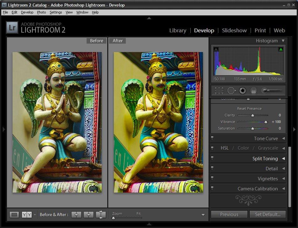 Vibrance перевод в фотошопе