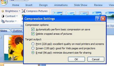 compress 718686 Reduce the size of your PowerPoint 2007 images