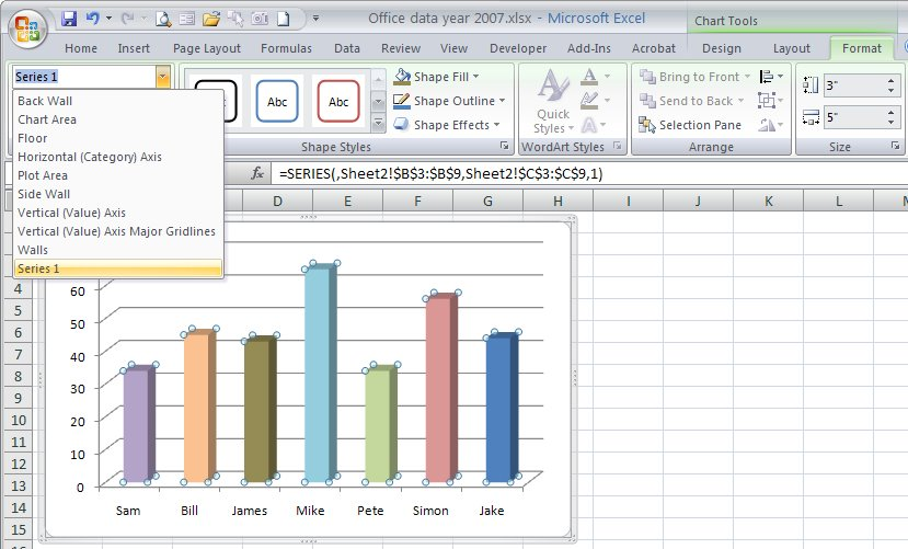 how to include axis name in a chart in excel