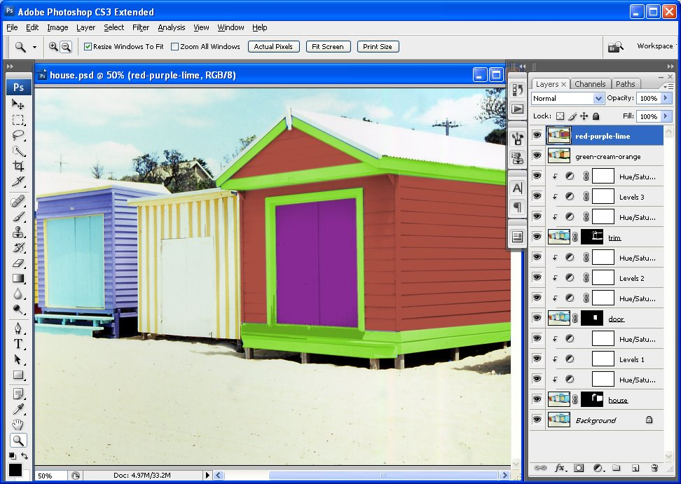 Photoshop Change The Color Of Your House