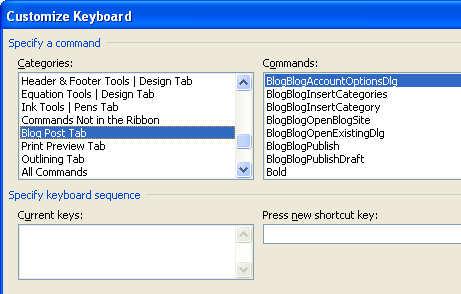 office 2007 keyboard shortcuts not working