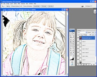 step2 712434 Photoshop: Coloured pencil sketch