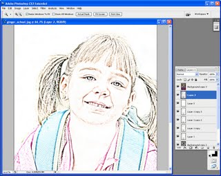 step3 769239 Photoshop: Coloured pencil sketch