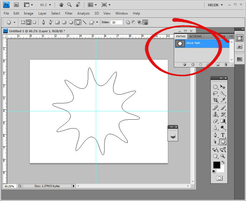 how to create gridlines in photoshop