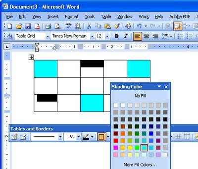 how to add one cell at a time in word