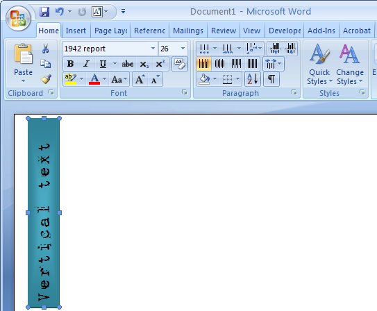 Rotated Text in Word 2007 « projectwoman com