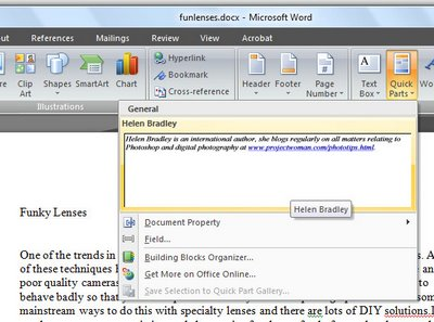 word quickparts 793920 Word 2007 DIY Quick Parts