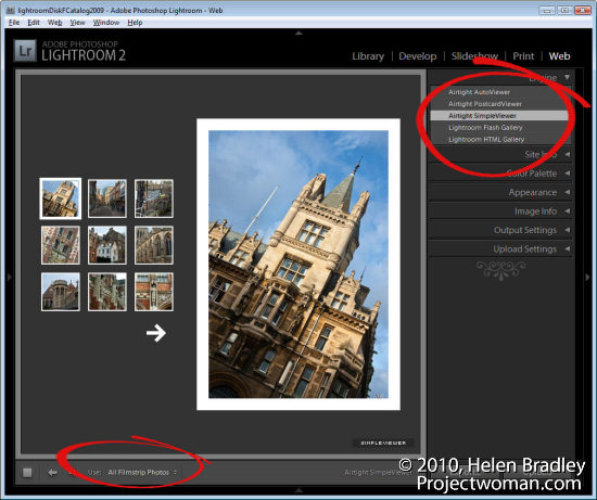 lightroom web slideshow step3 Create a Lightroom Slide Show