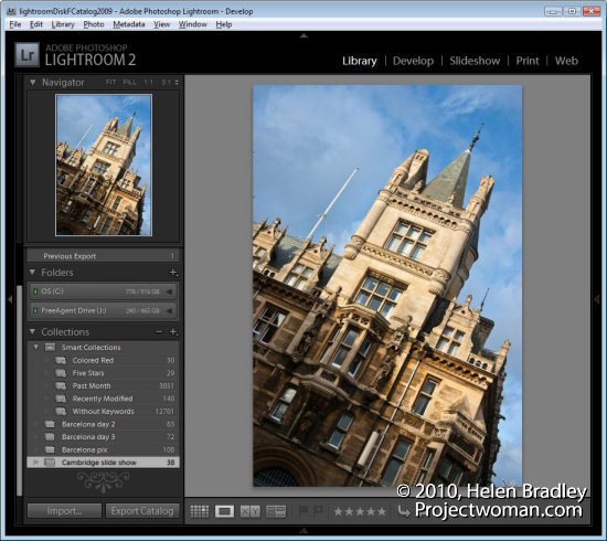 lightroom webslideshow step1 Create a Lightroom Slide Show