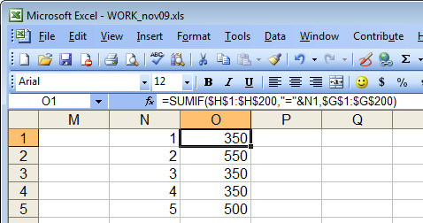 Excel sumif Excel   cell reference in SumIF