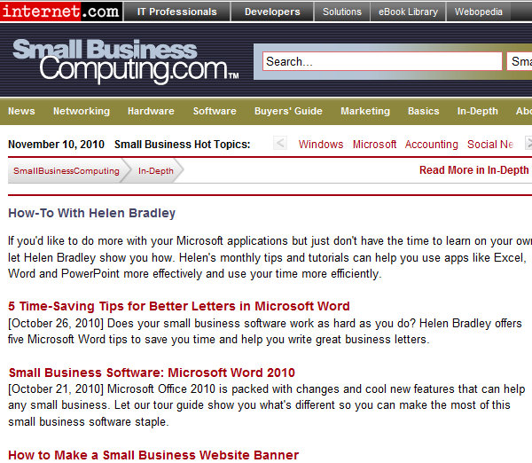 Microsoft Office How to articles smallbusinesscomputing Microsoft Office columns at SmallBusinessComputing.com