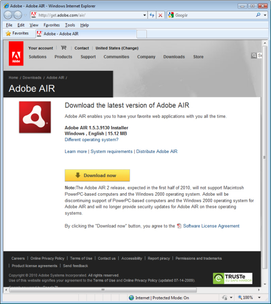 what uses adobe air