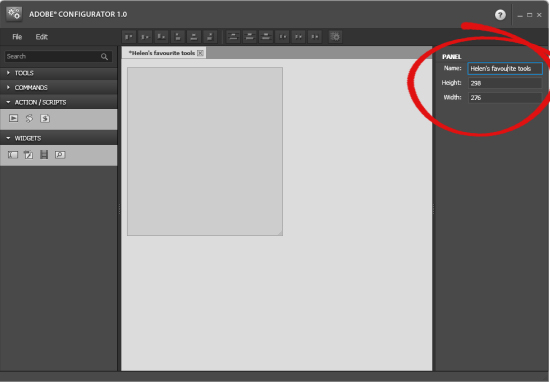 Photoshop Configurator step4 DIY Photoshop Panels using Adobe Configurator