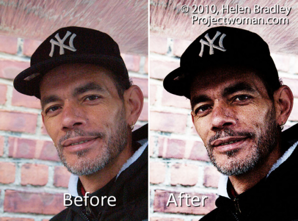 Photoshop grunge portrait before after Photoshop: Grunge Portrait Effect