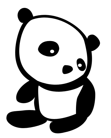 Photoshop kawaii panda shape Kawaii Panda Shape   free download