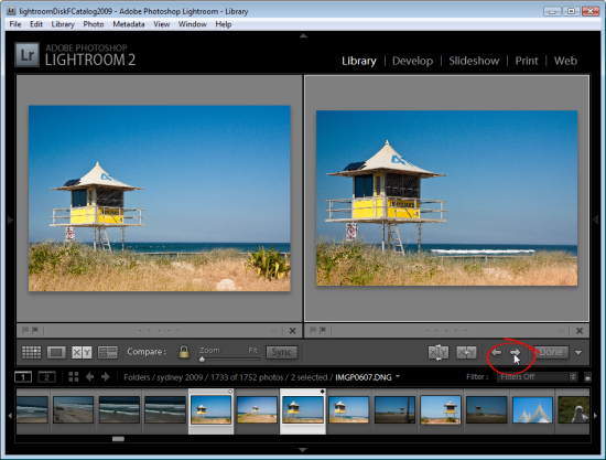 lr compare view step2 Using Lightroom Compare View