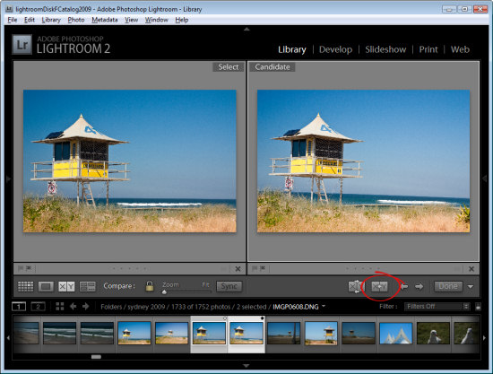 lr compare view step3 Using Lightroom Compare View