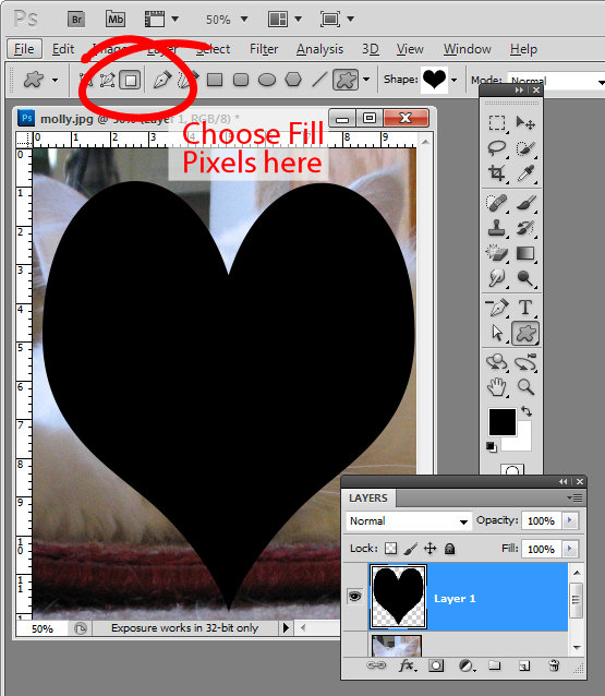 Crop image to valentine heart shape step3 Crop to a Valentine heart shape in Photoshop