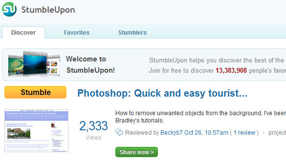 Find out who stumbledupon your website Who StumbleUpon Me?