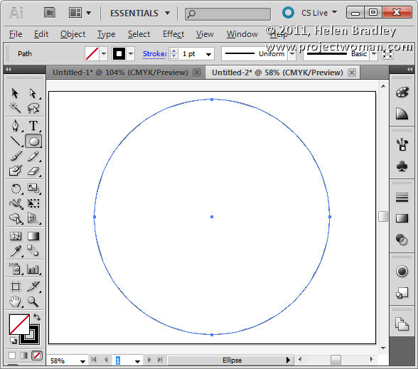 Illustrator make sunburst vector shape step1 Create a Vector Sunburst in Illustrator