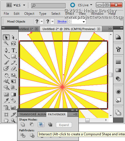 Illustrator make sunburst vector shape step10 Create a Vector Sunburst in Illustrator