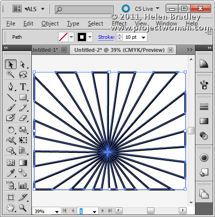 Illustrator make sunburst vector shape step11 Create a Vector Sunburst in Illustrator