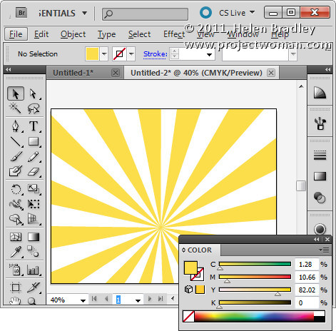 Illustrator make sunburst vector shape step12 Create a Vector Sunburst in Illustrator