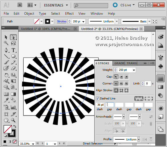 Illustrator make sunburst vector shape step2a Create a Vector Sunburst in Illustrator