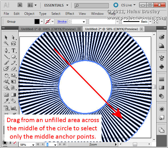 Illustrator make sunburst vector shape step4 Create a Vector Sunburst in Illustrator