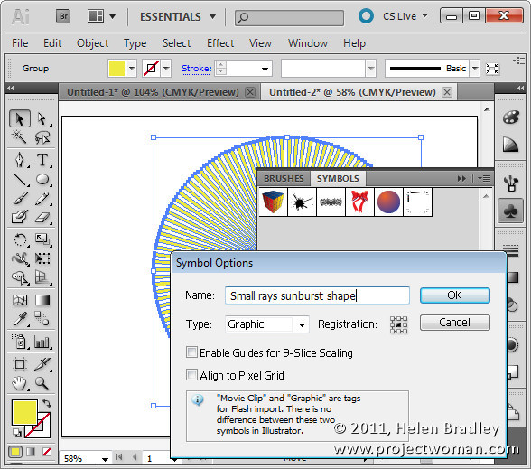Illustrator make sunburst vector shape step6 Create a Vector Sunburst in Illustrator