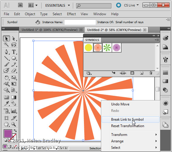Illustrator make sunburst vector shape step8 Create a Vector Sunburst in Illustrator