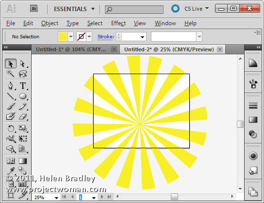 Illustrator make sunburst vector shape step9 Create a Vector Sunburst in Illustrator