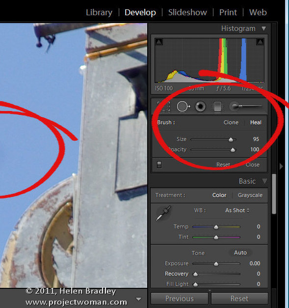 Lightroom remove sensor dust step1 Use Lightroom to Remove Sensor Dust