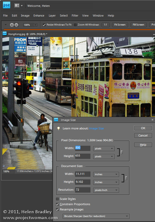 Photoshop Elements resize image Simple Photoediting workflow   Step 14   Optimize your image