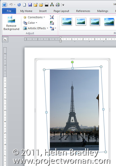 Straightening an image in Word 2010 « projectwoman.com