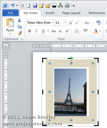 Word 2007 2010 straighten an image step3 Straightening an image in Word 2010