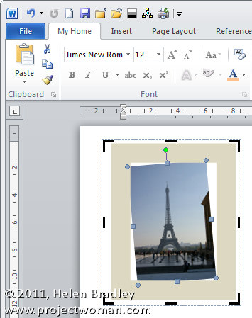 Word 2007 2010 straighten an image step4 Straightening an image in Word 2010