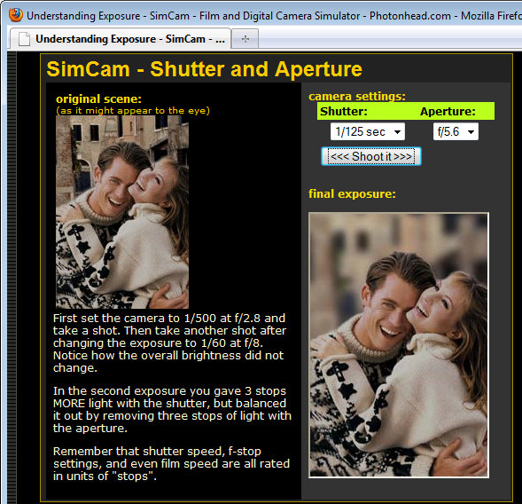 photon aperture shutter speed learning site A cool resource for understanding Av and Tv