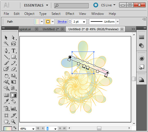 how to make spiral on illustrator